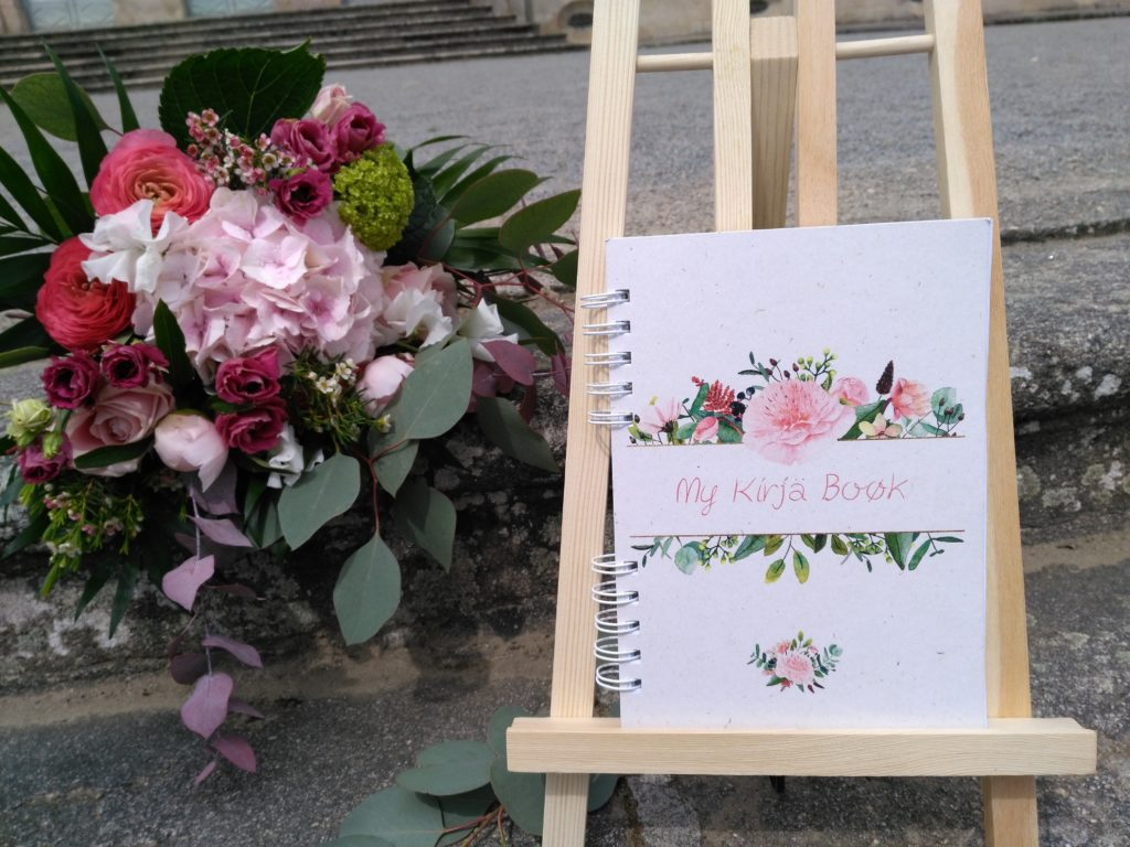 agenda sur mesure bouquet aquarelle