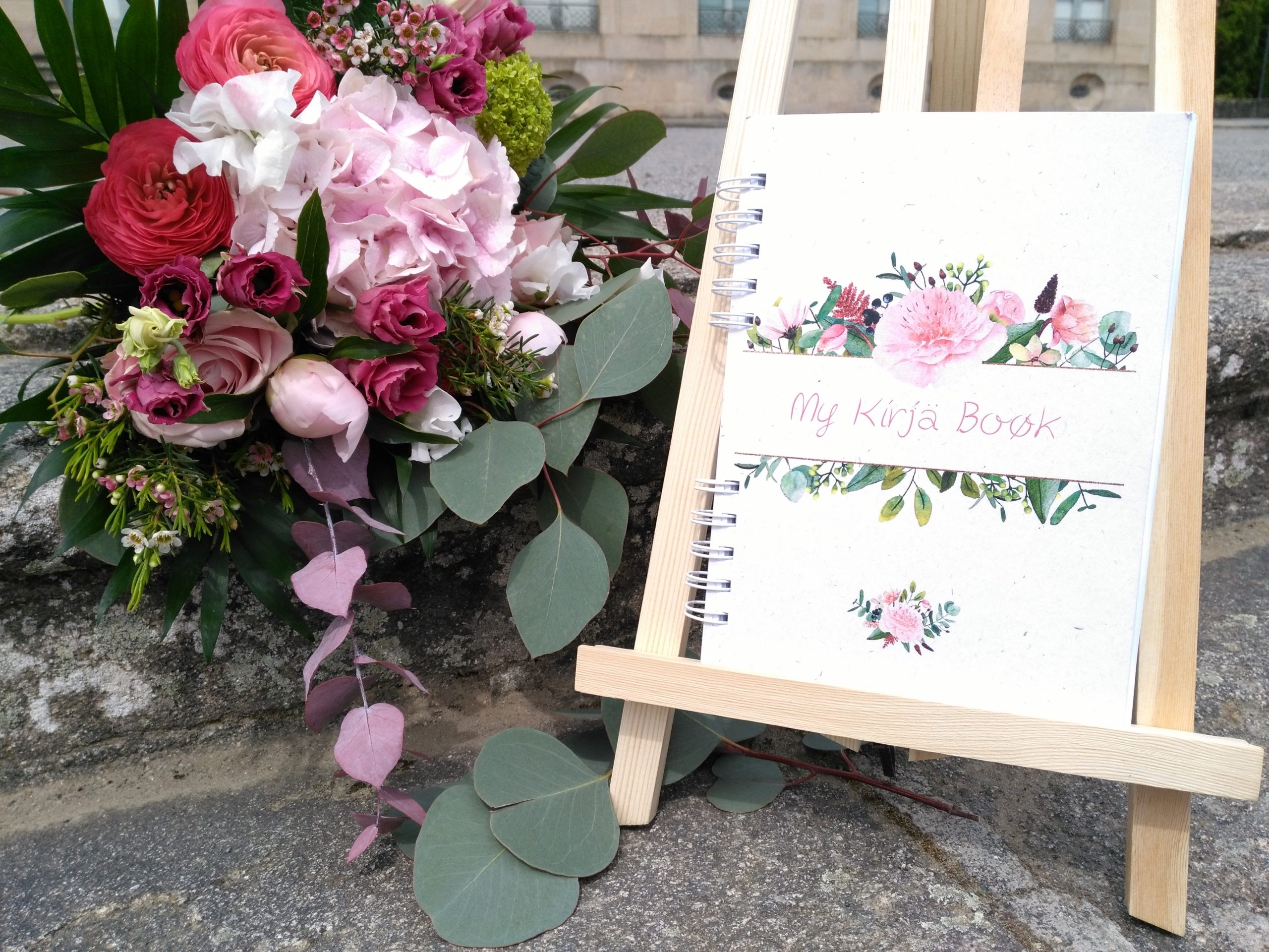 agenda sur-mesure bouquet aquarelle