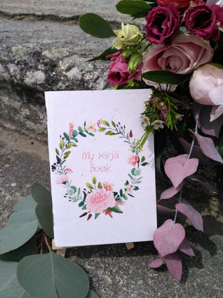 carnet de note bouquet aquarelle