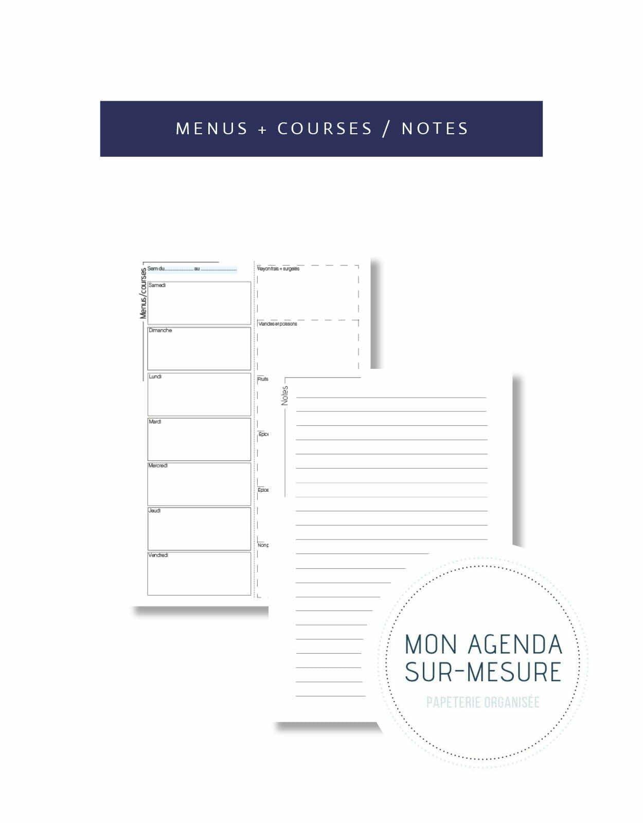 page-agenda-sur-mesure-menus-semaine-courses-notes