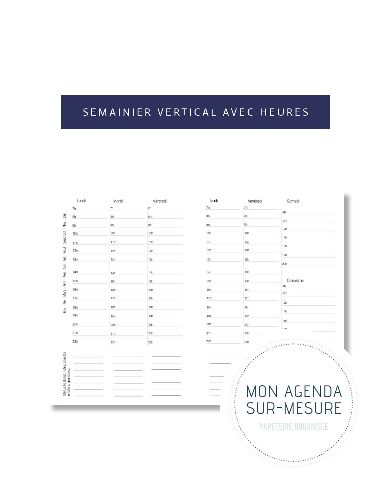 page-agenda-sur-mesure-semainier-vertical-avec-heures