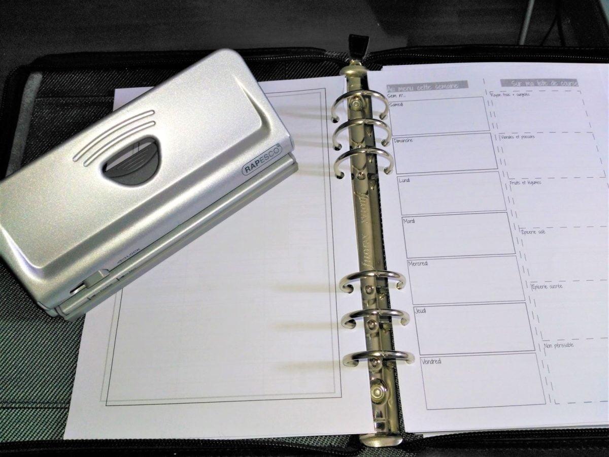 recharge planner organiser