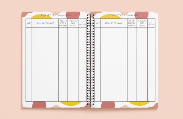 Carnet de commandes - mon agenda sur-mesure